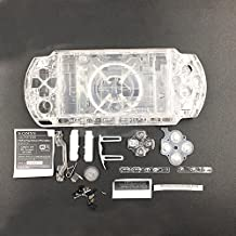 NEW Replacement Sony PSP 3000 Console Full Housing Shell Cover With Button Set -Clear White.