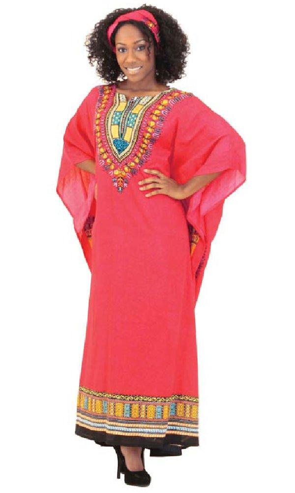One Size Traditional Kaftan Caftan - Many Colors Available (Fuschia)