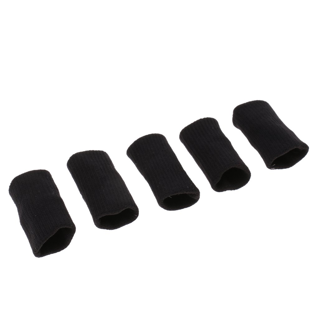 DYNWAVE 15Pcs Nylon Stretchy Finger Protector Sleeves Support Arthritis Sports Aid
