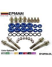 EPMAN For B-Series Vtec Low-Profile Anodise Aluminum Racing Valve Cover Hardware (Blue)