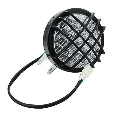 TC-Motor 12V LED Front Head Light Headlight For 50cc 70 90 110cc 125cc 150cc 200cc Quad 4 Wheeler Go Kart ATV Roketa Taotao Kazuma Sunl
