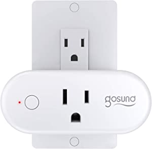Smart Plug Gosund WiFi Outlet 15Amp Socket Works with Alexa Google Home Plugs, Voice and App Control, Schedule and Timer, No Hub Required, 1 Pack [Upgraded Version]