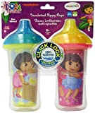 Munchkin Dora the Explorer Click Lock Insulated Sippy Cup, 9 Ounce, 2-Count