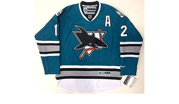 buy popular e7715 b1aaf Patrick Marleau San Jose Sharks 25th Anniversary Reebok Nhl ...