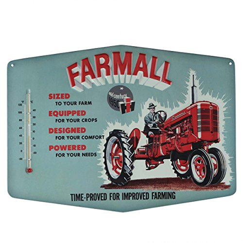 Open Road Brands Farmall Improved Retro Thermometer Sign