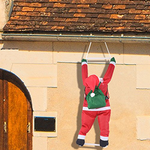 Joiedomi 35 Inch Climbing Hanging Santa Claus for Christmas -