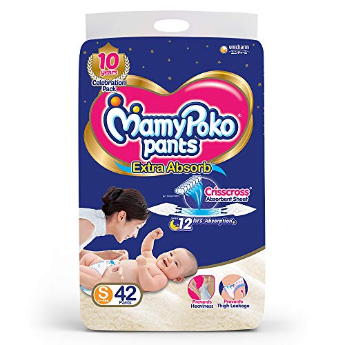 MamyPoko Pants Extra Absorb Diapers Small 42 Pieces