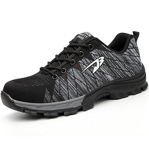 Comodas Gray Coou Para Calzado S3 Ligeras Zapatillas De Trabajo Hombre 536 Seguridad Style zqragfz