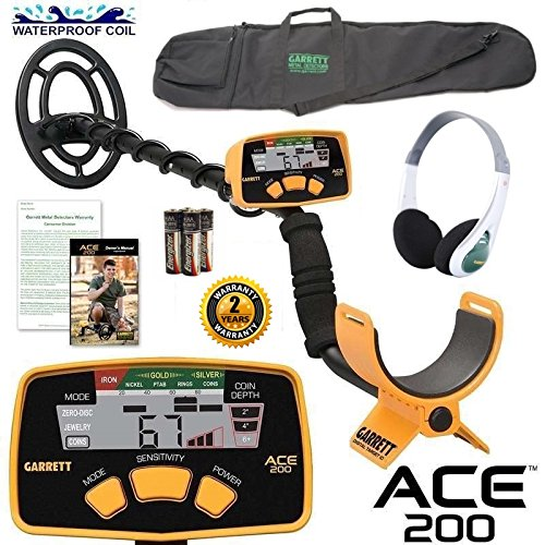 - Garrett Ace 200 Sports Package with Headphones and Detector Carry Bag