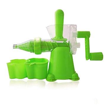 Haoli Multi Functional Slow Masticating Single Auger Montado Exprimidor Manual, Manivela Exprimidor, Plástico, Verde: Amazon.es