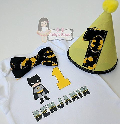 Batman First Birthday Outfit 1st Boy Personalized Shirt