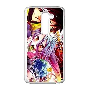 LG G2 Cell Phone Case White No Game No Life ekuf