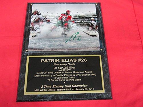 Patrik Elias New Jersey Devils Autographed 8x10 Plaque Photo SPECIAL EDITION 2014 WINTER CLASSIC - Plaque New Jersey Devils