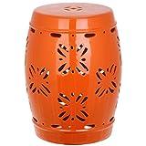 Cheap Safavieh Castle Gardens Collection Sakura Orange Glazed Ceramic Garden Stool
