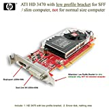 HP 516913-001 ATI HD3470 (RV620) PCI-e x16 256MB graphics card - Has one DP 1.1a connector, one dual-link DVI connector, and includes bracket