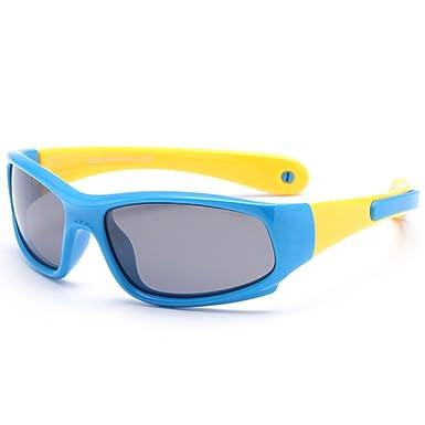 VEVESMUNDO Sonnenbrille Kinder Jungen Mädchen UV 400 schutz Polarisiert Flexibel Sport Einstellbar Kindersonnenbrillen Brille Ohne sehstärke für 3-12 Jahre (Grün und orange) M9z2RnXAX