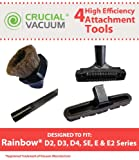 4 Replacements for Rainbow Crevice Tool, Dusting Brush,...