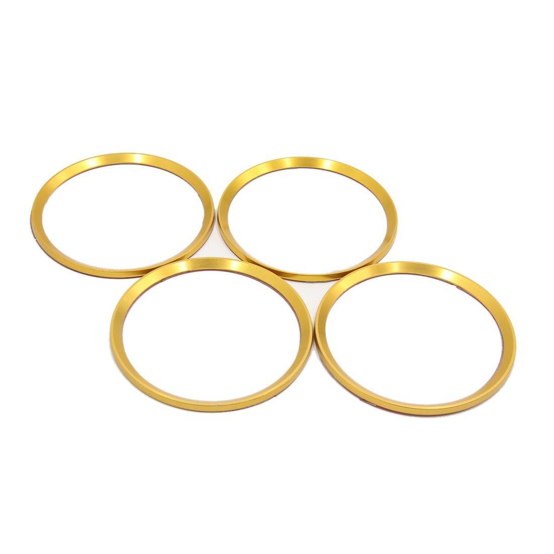 uxcell 4pcs Gola Tone Car Wheel Center Hub Emblem Decorative Trim Ring Circle for Cadillac XT5 XTS ATSL SRX
