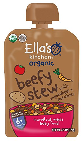 (Ella's Kitchen Organic Stage 2, Beef Medley with Vegetables + Potatoes, 4.5 Ounce (Pack of 6))