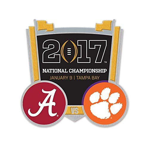 2017 National Championship Pin Alabama vs. Clemson