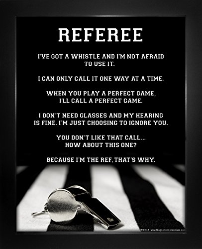 "Framed Referee 8"" x 10"" Sport Poster Print"