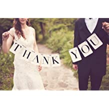 C-Pioneer THANK YOU Wedding Bunting Banner Photo Booth Props Party Garland Decoration