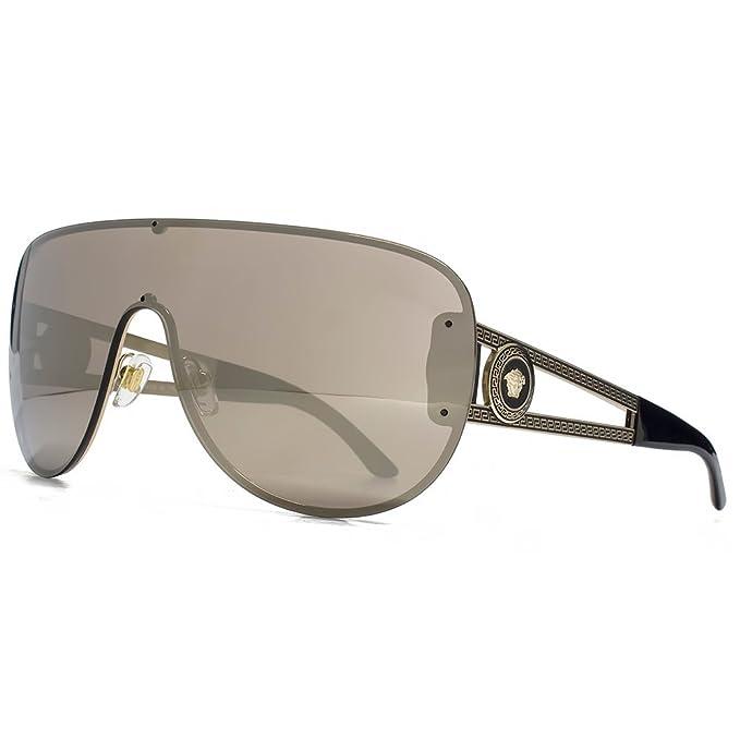 37adddef7e3f0 Versace - Gafas de sol - para mujer Brown Gold Mirror 41  Amazon.es  Ropa y  accesorios