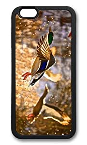 MOKSHOP Adorable flying ducks Soft Case Protective Shell Cell Phone Cover For Apple Iphone 6 Plus (5.5 Inch) - TPU Black