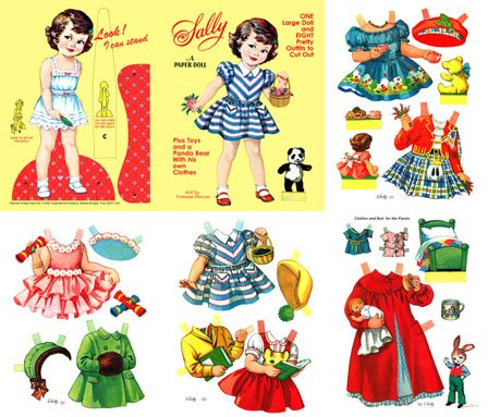 Download SALLY, Restored early 50s Paper Doll pdf epub
