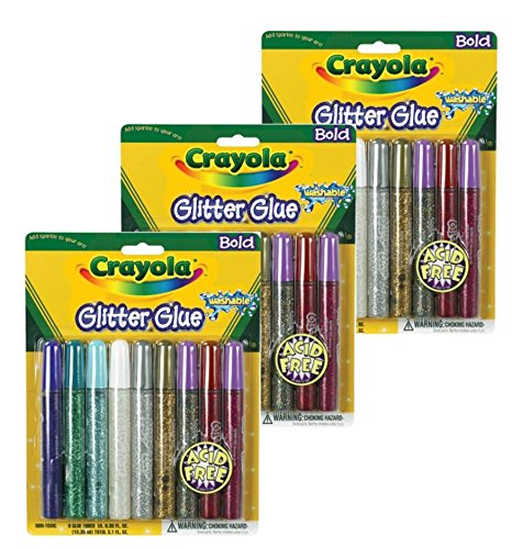 Crayola Bold Color Glitter 9 Count