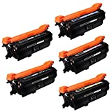 SPEED Compatible Toner Cartridge Replacement for HP 652A ( Black , 4-Pack )