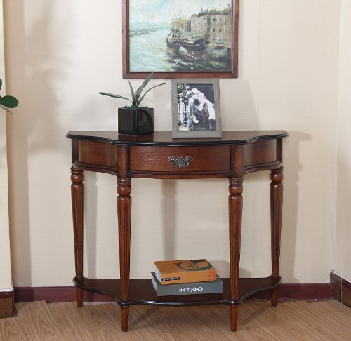 All Things Cedar HR328 Console Display Table, Cherry