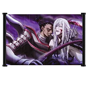 "Sengoku Basara Samurai Heroes Anime Game Fabric Wall Scroll Poster (42""x31"") Inches"