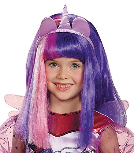 My Little Pony Twilight Sparkle Adult Costumes (UHC Girl's My Little Pony Twilight Sparkle Wig Child Halloween Accessory)