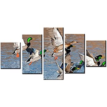 amazon com wowdecor canvas prints 5 pieces multiple pictures wall