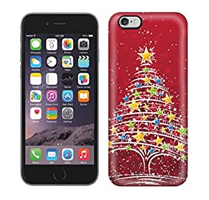 Protective Tpu Case With Fashion Design For Iphone 6 Plus (christmas Tree Stars)