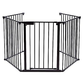 amazon com teekland baby gate fireplace safety fence with doors rh amazon com fireplace metal safety fence Fireplace Fence for Babies