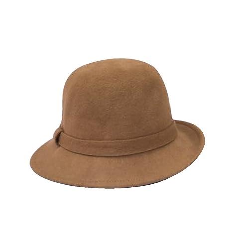 Bombero Damas Otoño E Invierno Sombrero De Inglaterra Sombrero De Fieltro Sombrero De Cúpula Gorro D...