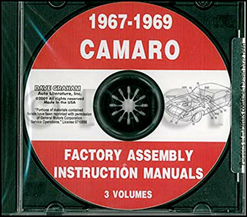 - STEP-BY-STEP 1967 1968 1969 CHEVY CAMARO FACTORY ASSEMBLY INSTRUCTION MANUAL CD. INCLUDES: RS, SS and Z/28. CHEVROLET 67 68 69