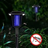 Solar Bug Zapper, YUSHAN Outdoor Insect / Mosquito/ Flying Killer Light, Also Solar Garden Pathway Lights (2 Lighting Modes, Hang or Stake in the Ground)