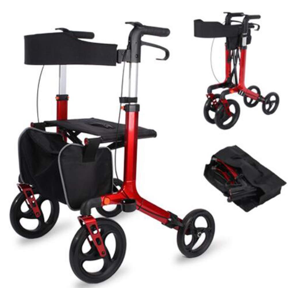 Andador con ruedas para trabajo pesado con asiento nylon ...