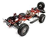 #9: Integy RC Model Hop-ups C25310REDBLACKT1 V2 Billet Machined 1/10 Size TR310 Trail Roller 4WD Off-Road Scale Crawler ARTR