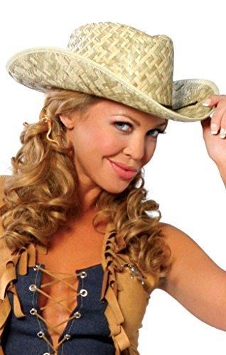 [Sexy Farmer Cowgirl Straw Hat Halloween Accessory] (Farmers Daughter Halloween Costume)