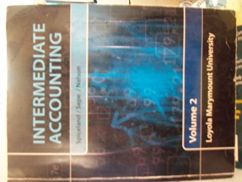 Intermediate Accounting Volume 2 Loyola Marymount University