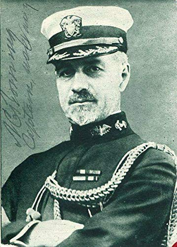 Unknown Military US Navy Captain WWI Spanish American War Signed Autograph Photo from HollywoodMemorabilia