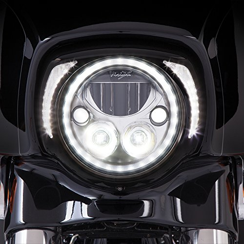 Ciro Fang LED Headlight Bezel Black for 2014-newer FLH 45201]()