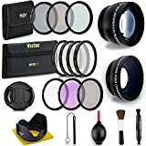 58MM Professional Lens & Filter Bundle - Complete DSLR/SLR Compact Camera Accessory Kit - Lenses (Telephoto, Wide Angle), Filters (Macro, ND, UV, CPL, FLD), Cleaning Tools + More Accessories