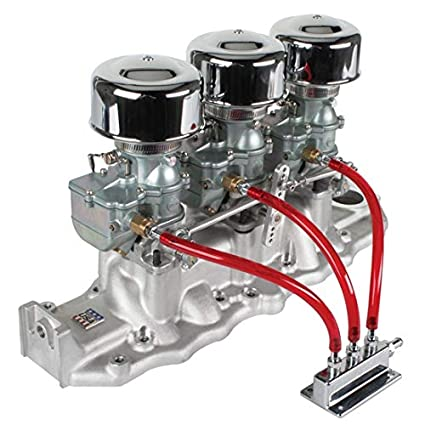 Amazon com: 9 Super 7 3x2 Carb/Edelbrock Intake Manifold Kit