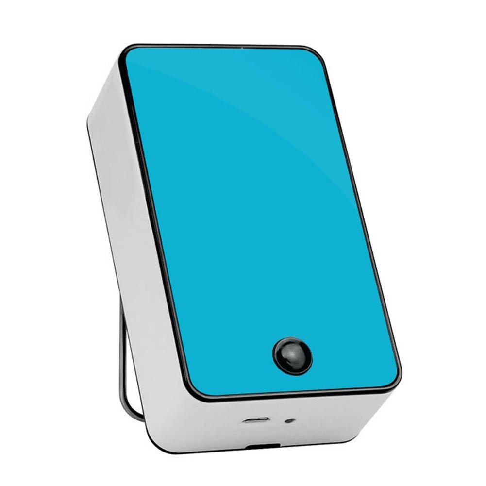 Crewell Mini tragbarer Schreibtisch Klimaanlage Luftbefeuchter Kühler Ventilator USB Aufladung blau
