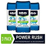 Gillette Power Rush Clear Gel Men's Antiperspirant and Deodorant, 3.8 Ounce, (3 Counts)